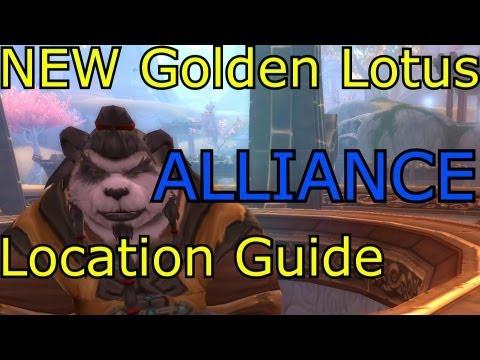 NEW! Golden Lotus Quartermaster Gear Vendor Location ALLIANCE WoW MoP