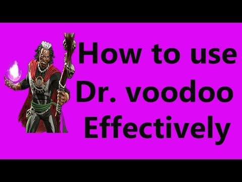 how to use doctor voodoo marvel contest of champion
