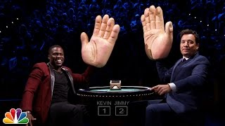 Jimmy and Kevin Hart compete in a high-stakes game of blackjack where the loser of each round gets smacked in the face with a giant rubber hand. Subscribe ...