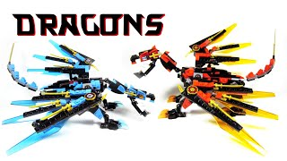 LEGO Kai and Nya's Elemental Dragons (MOC from 70627 Dragon's Forge)