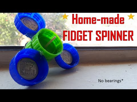 How to make a easy DIY Fidget spinner (without bearings) - bottle caps