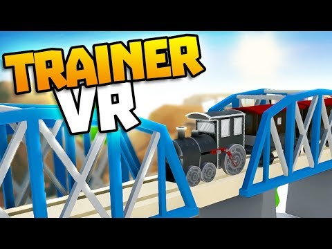 AMAZING TRAIN CONSTRUCTION IN VR - TrainerVR - Train Building VR Game - VR HTC Vive Gameplay