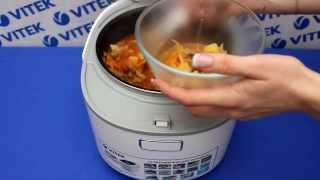 Борщ с томатной пастой в мультиварке VITEK VT-4215 BW