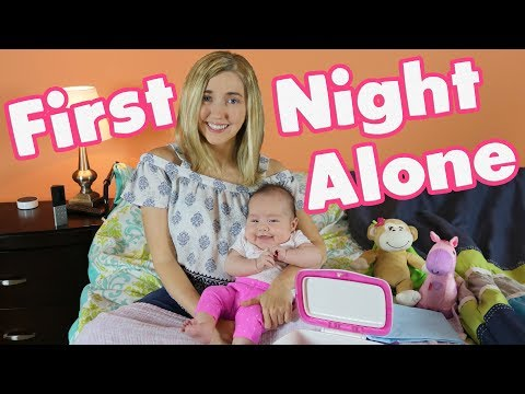Wheelchair Mom First Night Alone with Baby | SAHM