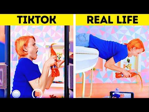 BEHIND THE SCENES OF TIKTOK TRENDS || TIKTOK vs REAL LIFE