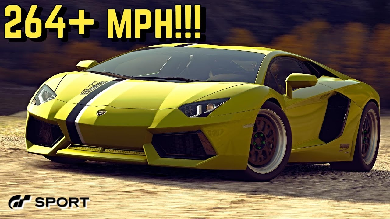 Gt Sport 264 Mph Lamborghini Aventador Setup Youtube