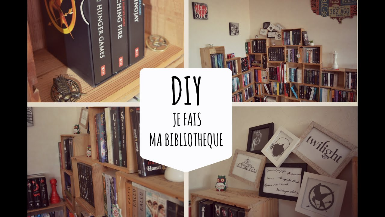 diy je fais ma biblioth que youtube. Black Bedroom Furniture Sets. Home Design Ideas