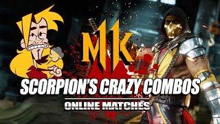 SCORPION'S CRAZY COMBOS: Mortal Kombat 11 - Online Matches (Stress Test)