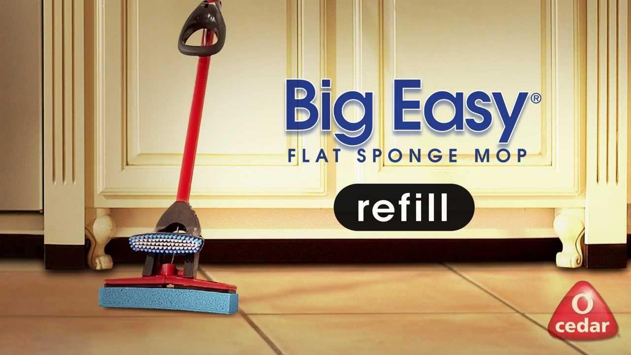 O Cedar Big Easy Flat Sponge Mop Refill Youtube