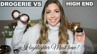 HIGHLIGHTER VERGLEICH / DROGERIE VS HIGH END!