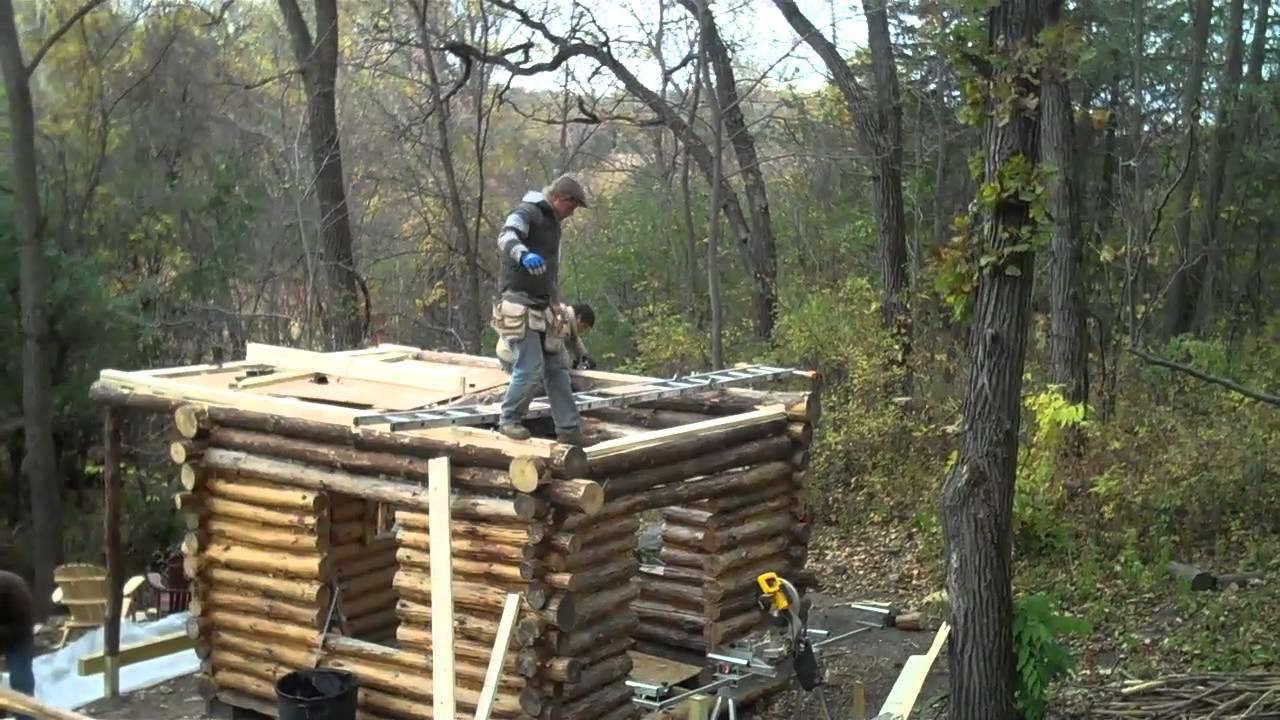Building A Play Cabin In The Woods.