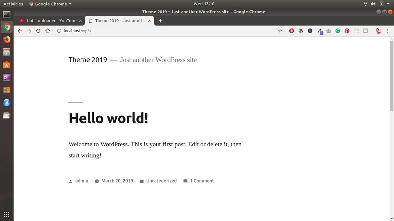 How to install WordPress 5 on ubuntu 18 04 / 19 04