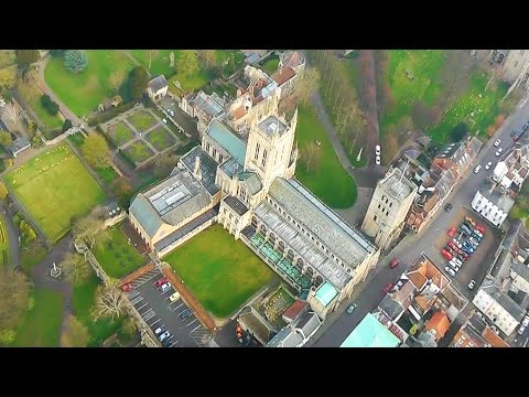 Beautiful Bury St Edmunds From the Air April 2015
