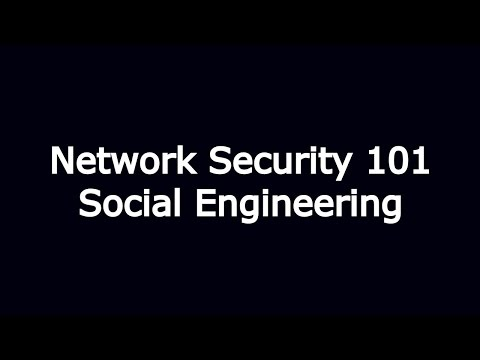 Network Security 101: Social Engineering