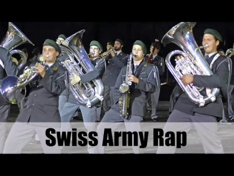 Swiss Army Officer Rapping about his Service - SlowMo