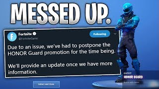 Why the Honor Guard Skin was DISABLED in Fortnite