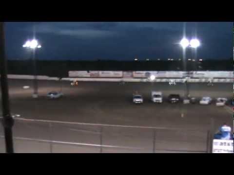 Keith Martin Crash 6.16.2012 Cowtown Speedway