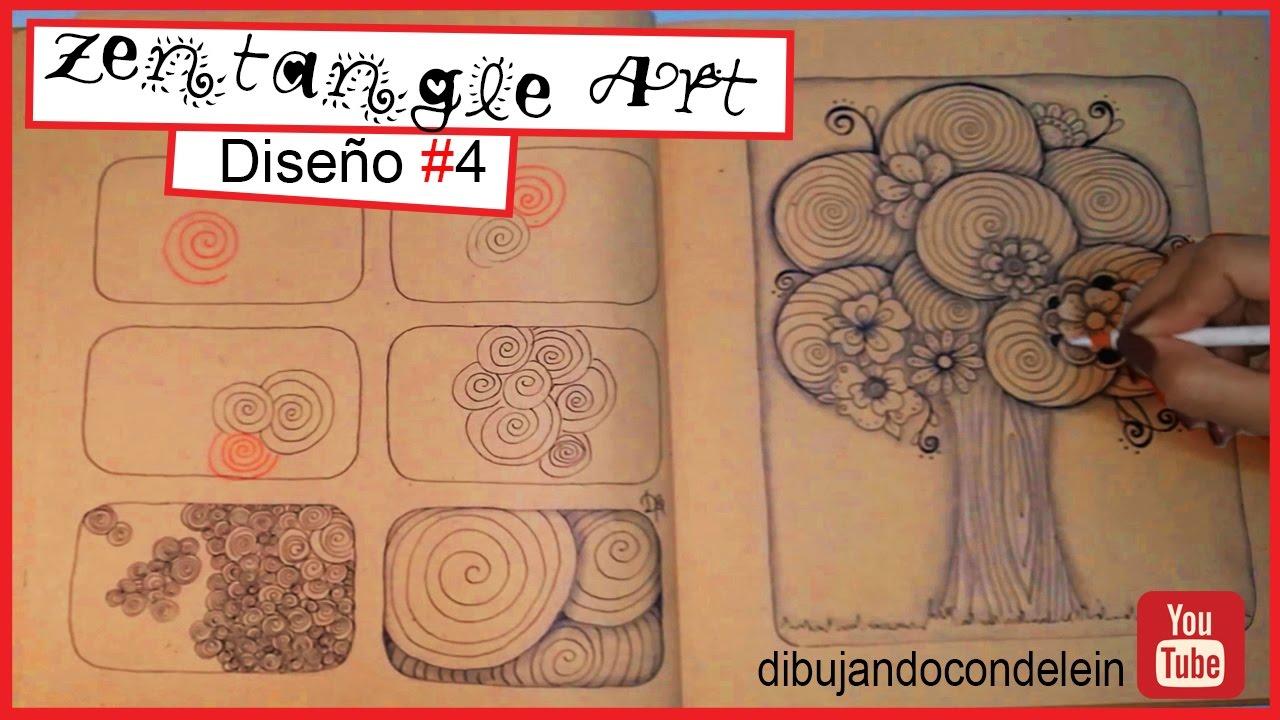 Como Dibujar Zentangle Art Paso A Paso Diseno 4 Zentangle Pattern