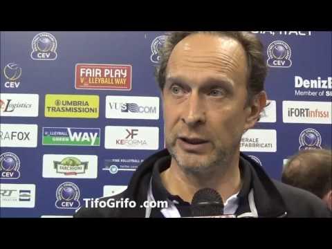 Sir Perugia  Ankara 3-1. Intervista al coach Bernardi post partita