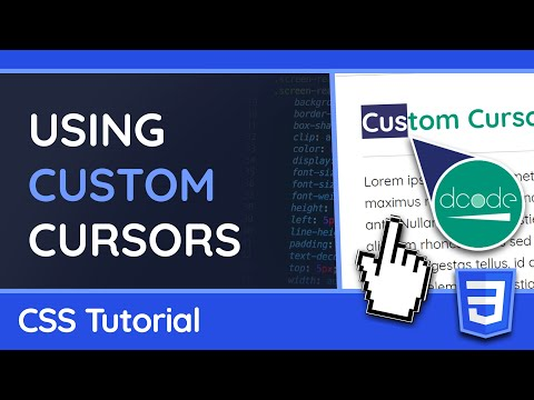 Custom Cursors with PNG or GIF Images - CSS & Web Tutorial thumbnail