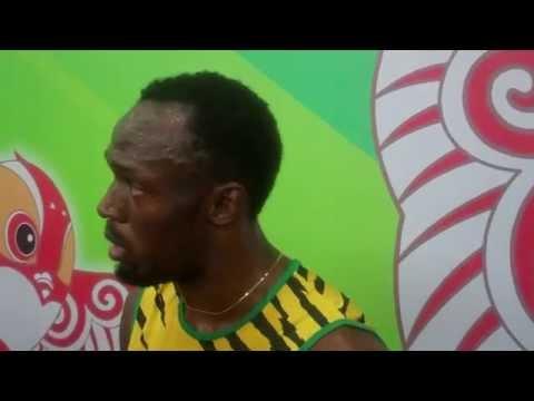 Usain Bolt After 100m Round 1 2015 World Champs Beijing