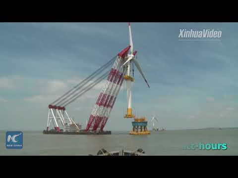 Get a glimpse of China's first offshore wind farm