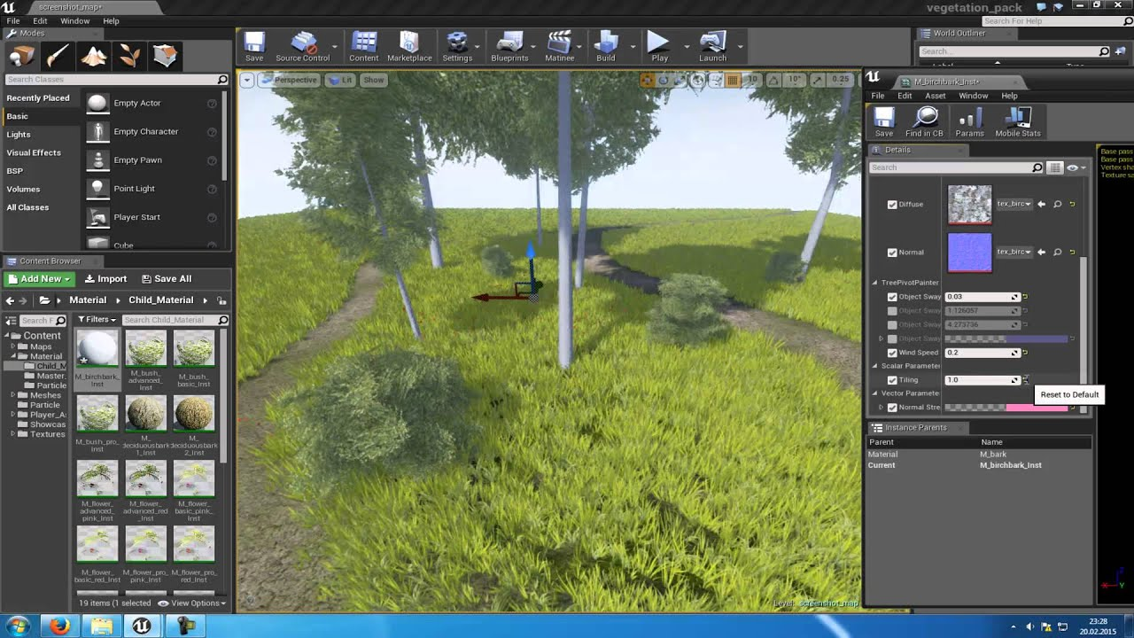 Unreal Engine 4: Free Vegetation Pack (Showcase)