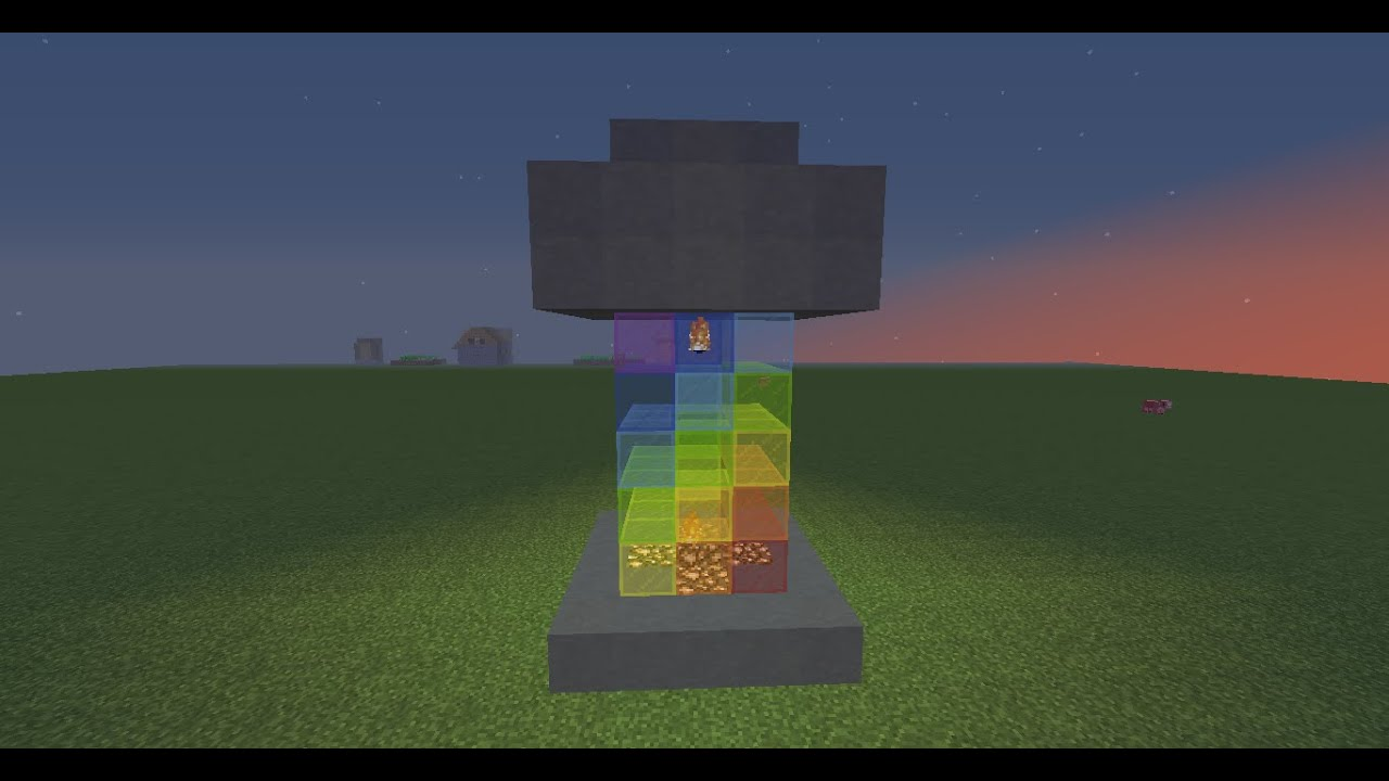How To Make A Cool Lava Lamp In Minecraft (No Mods) - YouTube