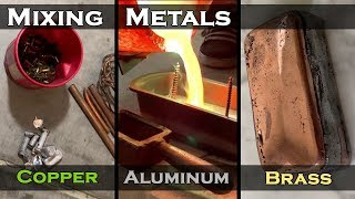 Mixing Metals Casting Challenge - Melting Copper, Brass, And Aluminum Into Triple Layer Ingot