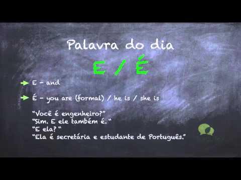 European Portuguese Lessons - E vs É