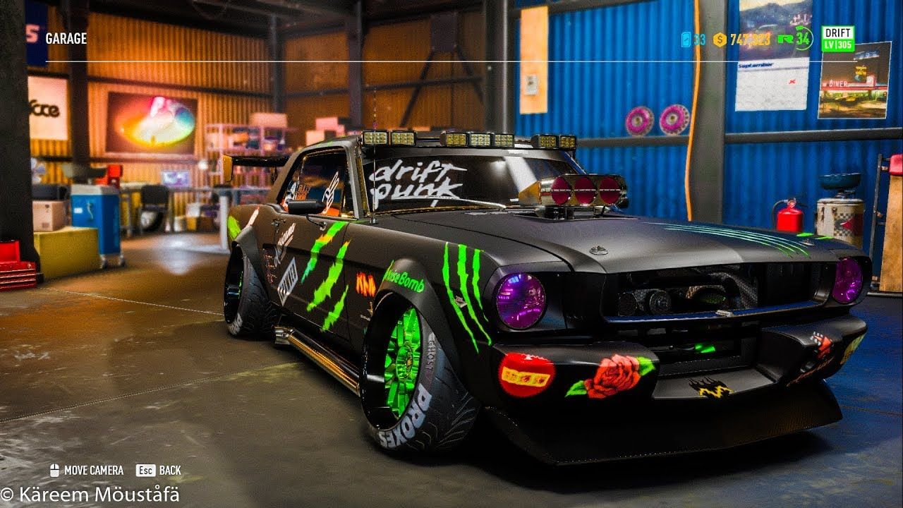 Need for speed payback 1965 ford mustang drift build ken block