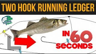 Sea Fishing rig guide - Two hook running ledger