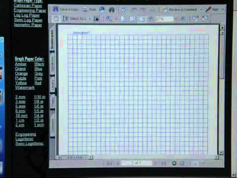 print graph paper online youtube