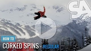 How To Backside 540 Corked Spin On A Snowboard (Regular)