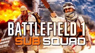 Battlefield 1 Beta: SUB SQUAD - 19-2 MG15 LMG Gameplay