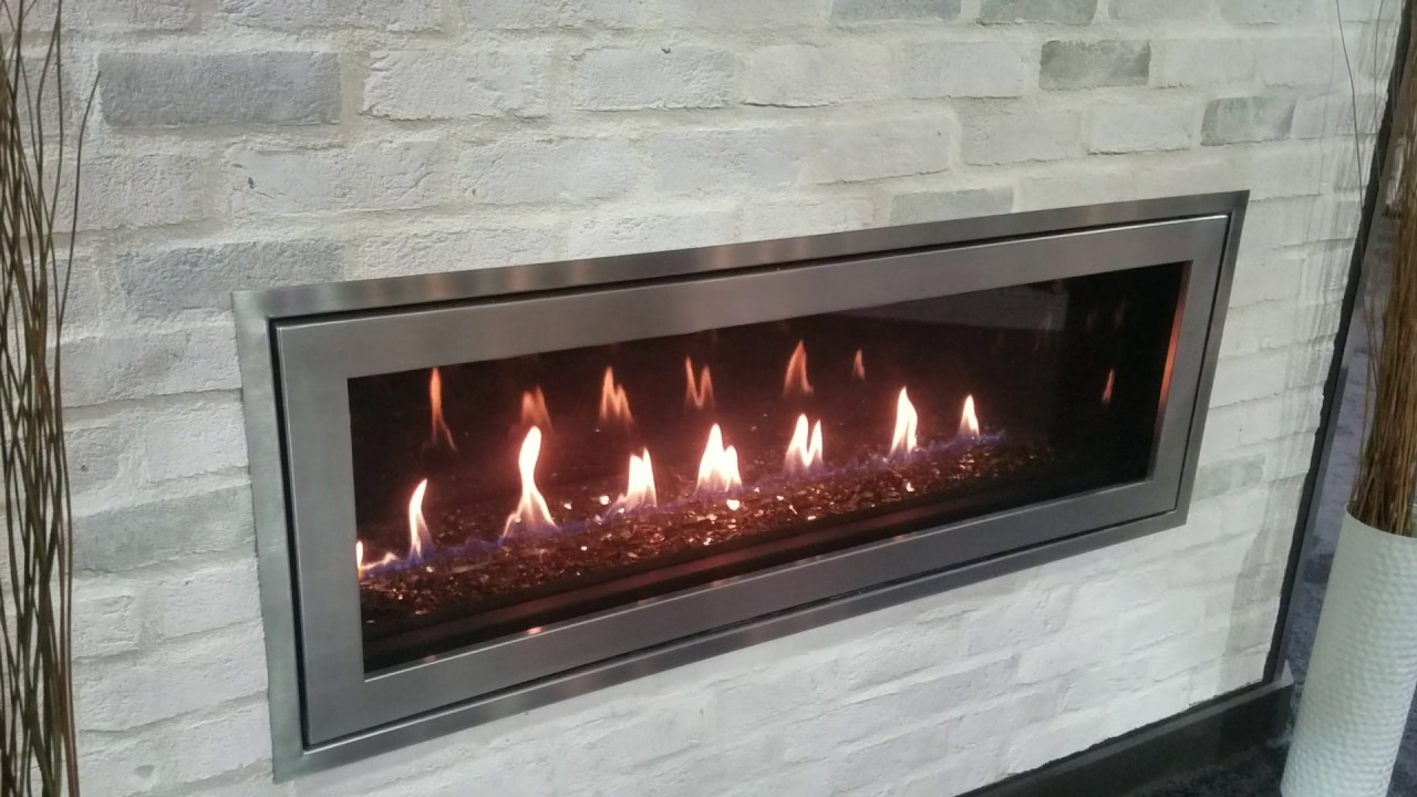 new napoleon acies 50 l50 linear gas fireplace youtube