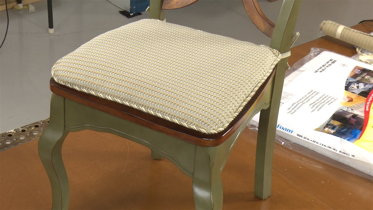 how to make your own chair pad cushions youtube. Black Bedroom Furniture Sets. Home Design Ideas