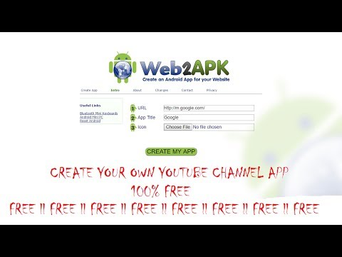Create an android app for your youtube channel ll free 100% ll Web 2