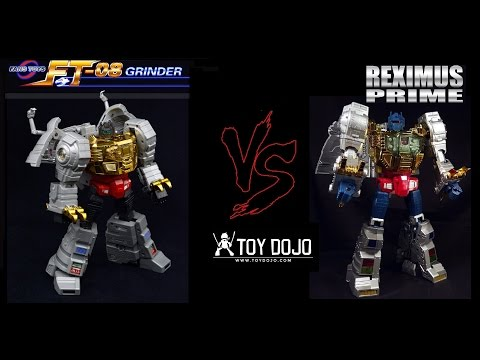 Transformers Fans Toys FT-08 Grinder vs Masterpiece Grimlock
