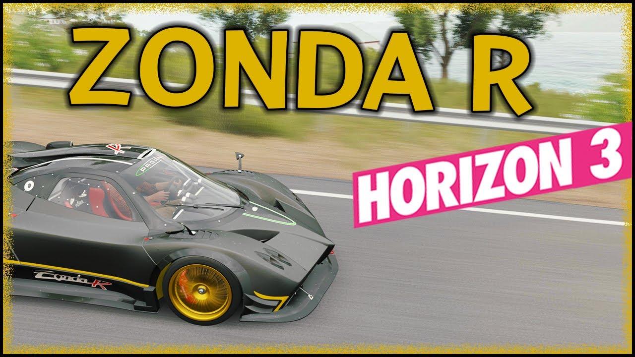 forza horizon 3 - pagani zonda r - gameplay, review + car sounds