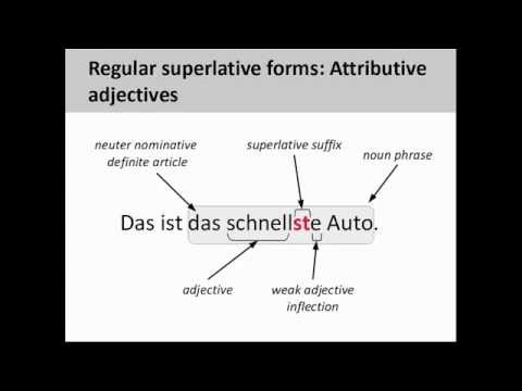 The positive, comparative, and superlative in German