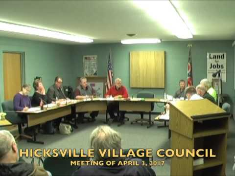 Hicksville Village Council Meeting 4--3-17