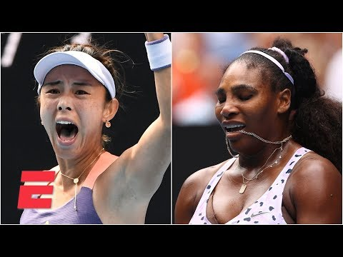Qiang Wang stuns Serena Williams in 3-set thriller  2020 Australian Open Highlights