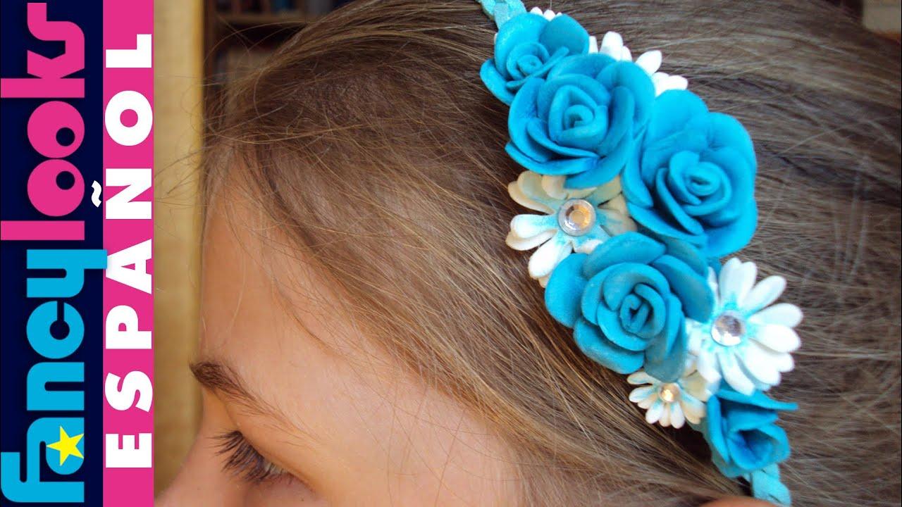 C mo hacer diadema de rosas y margaritas de goma eva youtube - Material para hacer diademas ...