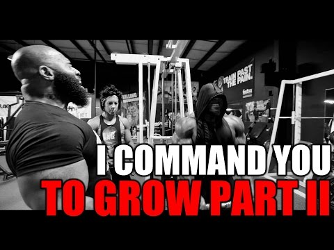 "The sequel to ""I Command You to Grow"", this time featuring Kai Greene."