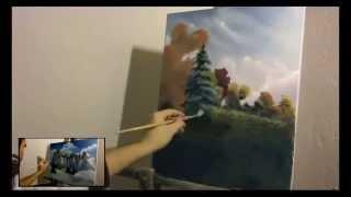 02. SPRING LANDSCAPE - Proljetni pejzaž (time lapse oil paiting)