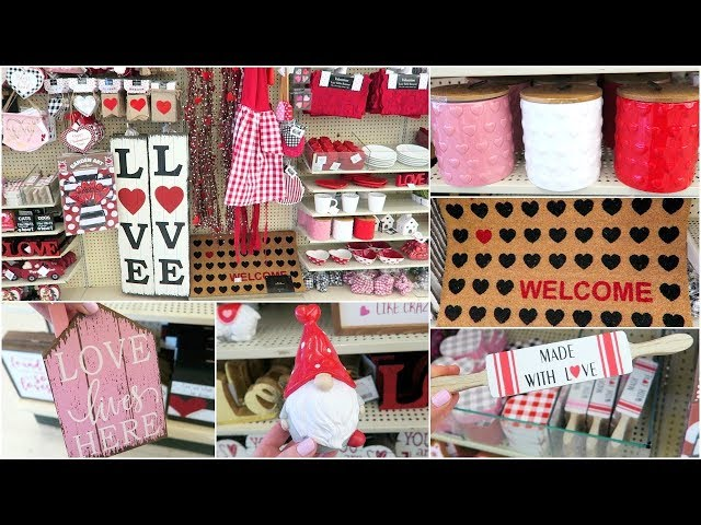 Valentine's Day Decor + Home Decor Shop With Me | Homegoods, Hobby Lobby, Dollar Tree