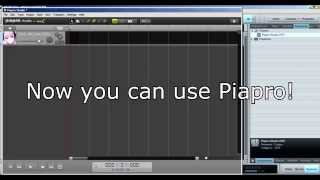 how to install piapro studio with piaprodate