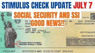 Stimulus Check Update| SS, SSDI & SSI (GOOD NEWS)