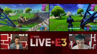Ninja and Josh Hart of the LA Lakers Play Fortnite at the YouTube Live at E3 Studio Part 2